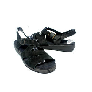 MEPHISTO Strappy Leather Slingback Sandals Size 7